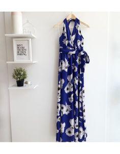 Φόρεμα maxi floral εξώπλατο