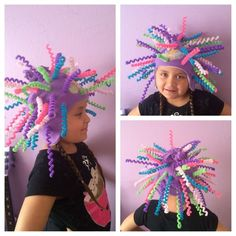 Crazy Hat Day, Masque Halloween, Halloween Costumes, Dinosaur Hat, Mad Hatter Costumes, Wacky Hair, Minion Hats, Funky Hats, Kids Carnival