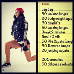 Ashley Horner! Another great workout for my stubborn legs
