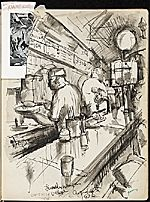 Citation: James Penney's New York Sketchbook, 1932 . James Penney papers, Archives of American Art, Smithsonian Institution.