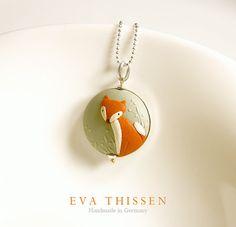 RESERVED for Anna Kristo. Fabulous Mr. Fox pendant by EvaThissen