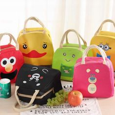 f584f3c6bf30 Cartoon Animal Minions Lunch Bag Portable Insulated Cooler Bags Thermal  Food Picnic Lunchbox Women Kids Lancheira
