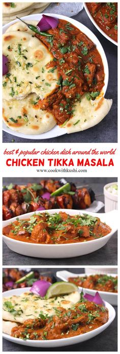 Chicken Tikka Masala is an addictive, classic dish for lunch or dinner where the chicken marinated in aromatic spices is first grilled and then mixed in a finger licking sauce or tikka masala. #Tikkasauce #tikkamasala #chickenrecipes #dinnerrecipes #naancurry #rotigravy #paneertikkamsala #paneerrecipes #indianfoodrecipes #spicychicken #chickendishes #holidaydinner #christmasdinner #thanksgivingdinner #chickenmasala #naanbread #roti #flatbread #dinnerideas #partyideas #footballfood…