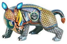 Resultado de imagen para mascaras rinoceronte madera