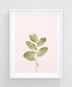Botanical art print Gold leaves print Nature wall by MyColorMood