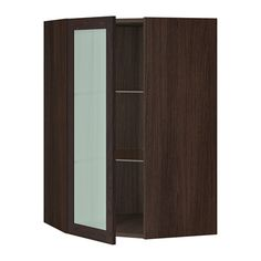 SEKTION Corner wall cabinet with glass door IKEA The door can be mounted to open to the left or right.