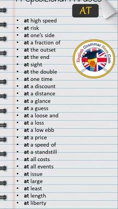 Teaching English Grammar, English Writing Skills, English Language Learning, English Lessons, Teaching Spanish, English Lesson Plans, English Phrases, Learn English Words, English Prepositions