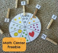 Busy Bag -- Little Miss Kimberly Ann: Math Center Freebies: Numbers, Counting, and Shapes Kindergarten Math, Fun Math, Teaching Math, Preschool Activities, Teaching Ideas, Easy Math, Elementary Math, Learning Centers, Kids Learning