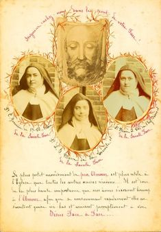 The original act of consecration of Saint Thérèse to the Holy Face of Jesus - 6 August 1896 Catholic Religion, Catholic Saints, Patron Saints, Sainte Therese De Lisieux, Ste Therese, Jace, Maria Goretti, Vintage Holy Cards, Blessed Family