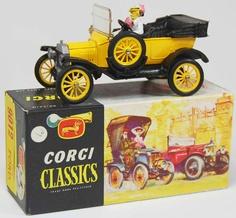 Vintage Corgi Classics diecast model Model T Ford 1915, open in yellow
