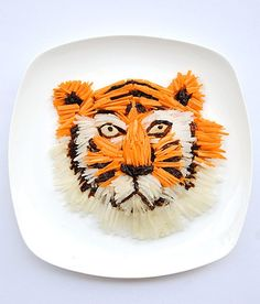 art made out of delicious food by talented artist Hong Yi