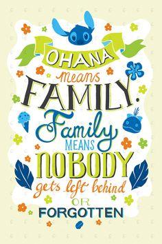 Disney Lilo und Stitch Ohana-heißt Familie von PenelopeLovePrints