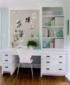 organization, storage, bulletin board @kristinacrestindesign