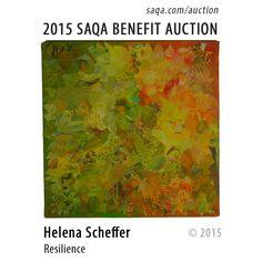 """""""Resilience"""" by Helena Scheffer #artquilts #SAQA #benefits #auction #fiberart #textiles #art #quilts #fibreart"""