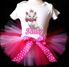 aristocats birthday party | Birthday / Party Outfit - Marie Aristocats Pink & White
