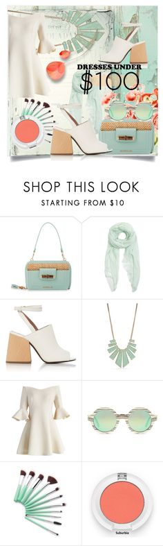 """""""Under $100: Summer Dresses"""" by kari-c ❤ liked on Polyvore featuring PUR, Spartina 449, Furla, Marni, New Directions, Chicwish, Illesteva and under100"""