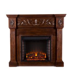 online shopping for Carved Electric Fireplace - Elegant Mantel Style w/ Floral Trim - Remote Control from top store. See new offer for Carved Electric Fireplace - Elegant Mantel Style w/ Floral Trim - Remote Control Media Electric Fireplace, Electric Fireplace Reviews, Electric Fireplace Insert, Electric Fireplaces, Infrared Fireplace, Stove Fireplace, Fireplace Kitchen, Faux Fireplace, Fireplace Mantels
