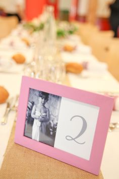 Wedding table deco - Table number 2 for the 2 years old of the bride Laura Delune Photography