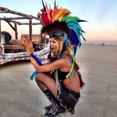 Burning man love the skirt