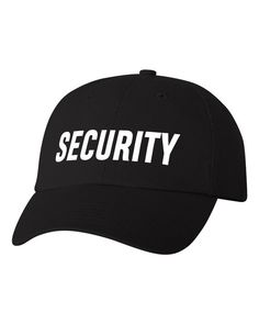 Security Custom Dad Hat Adjustable Baseball Cap Choose Your Color! Free  Shipping! 97bf1ac2e2e9
