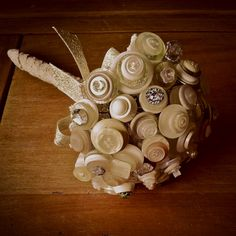 Handmade Button Bouquet by Stables Home and Garden