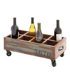 Look at this UMA Enterprises Eight-Bottle Wine Trolley Holder on #zulily today!