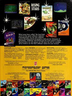 So many games from Avalon Hill (1982). #retrogaming #bitstory