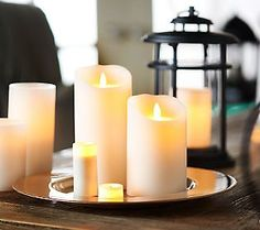 Luminara flameless candles saw Simeon QVC but they are so very expensive!  I would like them though.
