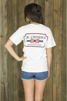 Our Stars & Bars Tee shown in white!