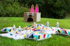 Easter Egg Hunt Ideas - feed the bunny game