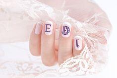 So cute! #Nails #NailMonogram #Monogram #Manicure