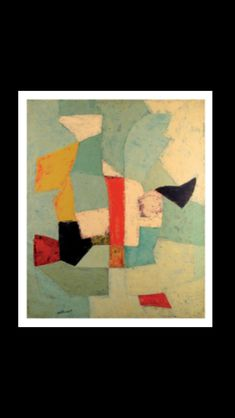 Serge Poliakoff - Composition abstraite, 1953 - Huile sur toile - 100 x 81 cm Comfort And Joy, Jackson Pollock, Gouache, Abstract Art, Gallery Wall, Collage, Shapes, Fine Art, Sculpture