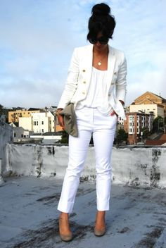 all white summer outfit LOVE