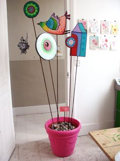 art on sticks by sandrine herlin
