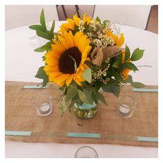 sunflower centerpieces for wedding reception