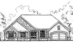 Discover the Danis Bridge European Ranch Home that has 3 bedrooms and 2 full baths from House Plans and More. See amenities for Plan Ranch Home Floor Plans, House Floor Plans, House Plans And More, Bridge, Houses, Flooring, How To Plan, Decor, Home Plants