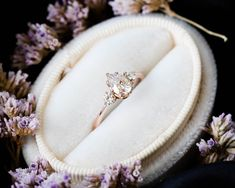 Pear moissanite three stone engagement ring, pear engagement ring, three stone ring, rose gold moissanite ring, alternative engagement ring – Famous Last Words Morganite Engagement, Rose Gold Engagement Ring, Vintage Engagement Rings, Diamond Wedding Bands, Wedding Rings, Engagement Jewelry, Halo Engagement, Rose Gold Moissanite Ring, Ring Rosegold