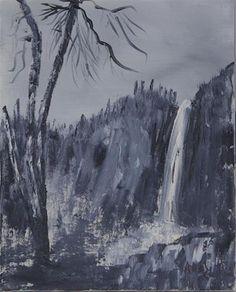 "Daily Paintworks - ""Bridal Falls Yosemite"" - Original Fine Art for Sale - © Sonia Rumzi"