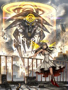 Anime 1300x1716 anime anime girls Deus Ex Machina long hair black hair red eyes…