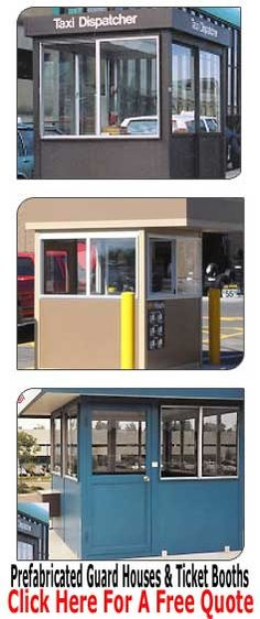 pre assembled guard shacks & ticket booths ready to install preassembled - Material Handling Equipment Product Information - Pre-Assembled Building Prefabricated Sheds, Guard House, Cost Saving, Security Guard, Access Control, Metal Buildings, Make Design, Service Design, Entrance