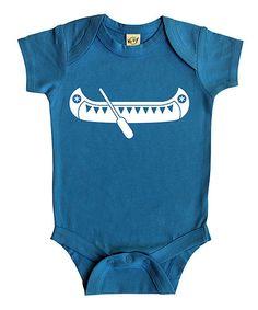 Rocket Bug Turquoise Canoe Bodysuit - Infant | zulily