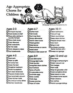 Editable Chore Charts Chore Chart 8 9 Year Old