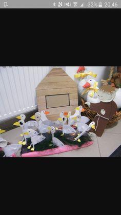 SZENT MÁRTON ÉS A LIBÁK-BÁBOK Martini, Techno, Table Decorations, Day, Saints, Autumn, Crafting, Techno Music, Martinis