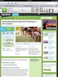 Start or change your routine with Fitcamp. This deal is 2 good to pass up. Purchase the voucher & then go to the chanceformations.com homepage, create your account & book your classes online. Ignite Your Inner Spark!! Living Social & Groupon