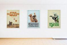 STAR WARS  Empire strikes back A new hope Return by BaydleCreative