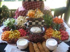 Ideas For Wedding Food Buffet Bbq Fruit Salads Wedding Buffet Food, Wedding Reception Food, Wedding Catering, Food Buffet, Wedding Vendors, Buffet Tables, Buffet Ideas, Cheap Wedding Food, Funeral Reception