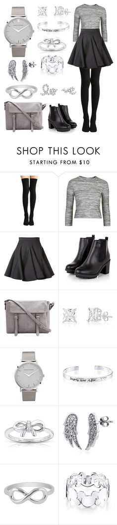 """""""Silvery Winter"""" by stephanie-rozek-paris ❤ liked on Polyvore featuring Topshop, Francesco Scognamiglio, Larsson & Jennings, Disney, Kobelli, BERRICLE and Jewel Exclusive"""