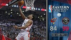 Demar Derozen leads the Raptors to the game three victory against the Cavs in Toronto to stay in the series.