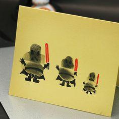 Pintura con pulgares inspirada en Darth Vader