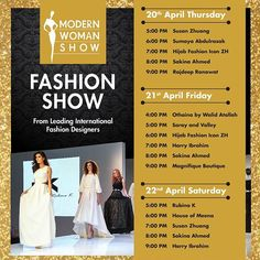 The Modern Woman Show will showcase international designer collections under one umbrella from 20th  22nd April 2017 at Zaabeel Hall 4 Dubai World Trade Centre from 12 noon until 10 pm. #MWS2017 #FashionShows #DubaiWorldTradeCentre #MyDubai #BeautySessions #SocialMediaInfluencers #Lifestyle #Bloggers #Exhibition #Luxury #Fashionistas #Design  via GRAZIA MIDDLE EAST MAGAZINE OFFICIAL INSTAGRAM - Fashion Campaigns  Haute Couture  Advertising  Editorial Photography  Magazine Cover Designs…